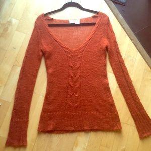 Day trip burnt orange sweater